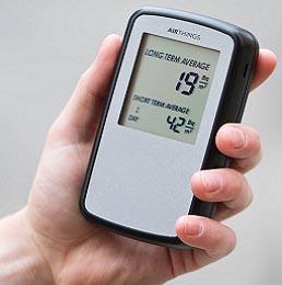 Elektronisk radon-måler der er meget præccis