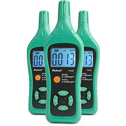 Vår elektroniska formaldehyd/TVOC-mätare kan, via en elektronisk sensor, blixtsnabbt mäta och noggrant visa koncentrationen av formaldehyd och TVOC i inomhusluften